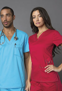 Dickies Unisex V-Neck Top Icy Turquoise (DK801-ITQZ)