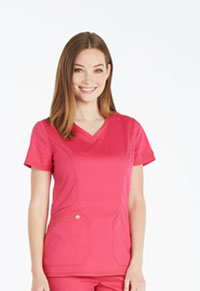 Dickies V-Neck Top Hot Pink (DK803-HPKZ)