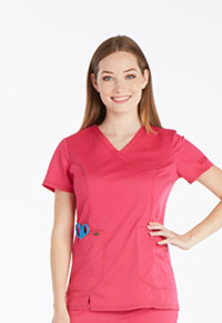 Dickies Mock Wrap Top Hot Pink (DK804-HPKZ)