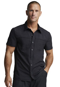 Dickies Dynamix Men's Button Front Collar Shirt (DK820-BLK) (DK820-BLK)