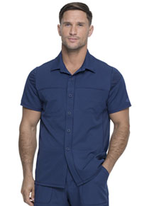 Dickies Dynamix Men's Button Front Collar Shirt (DK820-NAV) (DK820-NAV)