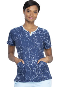 Dickies Shaped V-Neck Top Crackle Me Up (DK851-CKMP)
