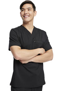 Dickies Balance Men's V-Neck Top (DK865-BLK) (DK865-BLK)