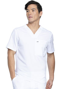 Dickies Balance Men's Tuckable V-Neck Top (DK865-WHT) (DK865-WHT)