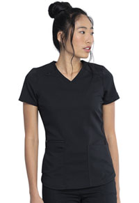 Dickies V-Neck Top Black (DK875-BLK)