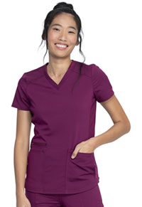 Dickies V-Neck Top Wine (DK875-WIN)