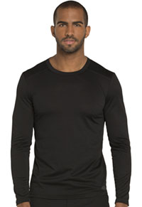 Dynamix Men's Long Sleeve Underscrub Knit Top (DK910-BLK) (DK910-BLK)