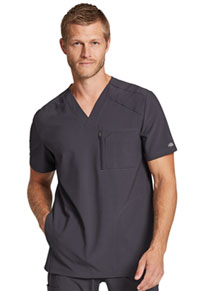 Retro Men's V-Neck Top (DK930-PWT) (DK930-PWT)