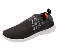 Reebok Athletic Footwear Ash Grey,Black,White,FireSpark (DMXLITEWALK-GBWF)