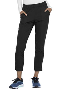 Simply Polished Mid Rise Tapered Leg Ankle Pant (EL101-BLK) (EL101-BLK)