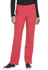 Simply Polished Mid Rise Straight Leg Pull-on Pant (EL130P-SFLA) (EL130P-SFLA)