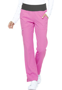 Elle Mid Rise Straight Leg Pull-on Pant Berry Parfait (EL130-BRPK)