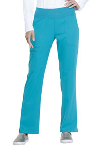 Elle Mid Rise Straight Leg Pull-on Pant Teal Blue (EL130-TLB)