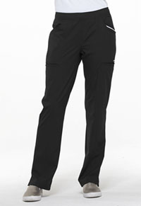 Simply Polished Mid Rise Tapered Leg Drawstring Pant (EL150-BLK) (EL150-BLK)
