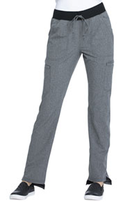 Elle Natural Rise Straight Leg Pant Heather Grey (EL167-HGY)