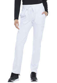 Elle Natural Rise Straight Leg Pant White (EL167-WHT)