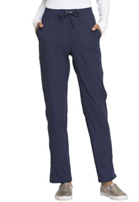 Simply Polished Mid Rise Tapered Leg Drawstring Pant (EL180-NAV) (EL180-NAV)