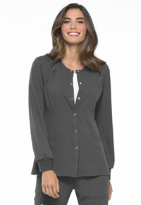 Elle Snap Front Warm-up Jacket Pewter (EL300-PWT)