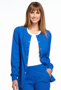 Elle Snap Front Warm-up Jacket Royal (EL300-ROY)