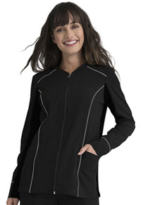 Simply Polished Zip Front Jacket (EL325-BLK) (EL325-BLK)