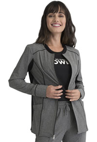 Elle Zip Front Jacket Heather Grey (EL325-HGY)