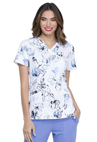 Prints a La Mode Mock Wrap Top (EL602-PTBO) (EL602-PTBO)