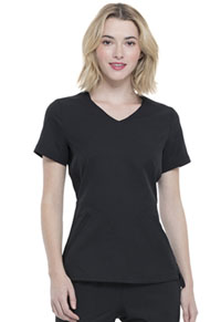 Simply Polished V-Neck Top (EL604-BLK) (EL604-BLK)
