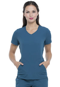 Elle V-Neck Top Caribbean Blue (EL604-CAR)