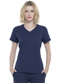 Simply Polished V-Neck Top (EL604-NAV) (EL604-NAV)