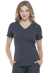Elle V-Neck Top Pewter (EL604-PWT)