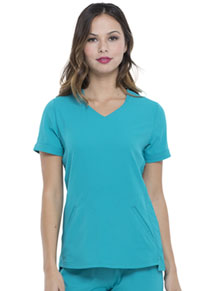 Elle V-Neck Top Teal Blue (EL604-TLB)