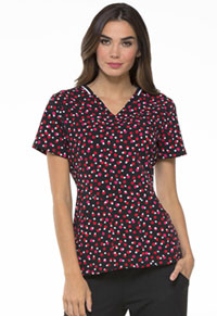 Elle V-Neck Top Dots So Perfect Red (EL615-DTRD)