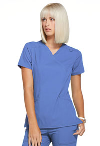 Simply Polished Mock Wrap Top (EL620-CIE) (EL620-CIE)