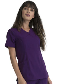Elle Mock Wrap Top Eggplant (EL620-EGG)