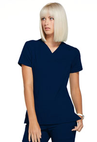 Simply Polished Mock Wrap Top (EL620-NAV) (EL620-NAV)