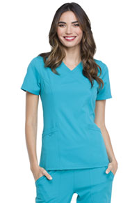 Elle Mock Wrap Top Teal Blue (EL620-TLB)