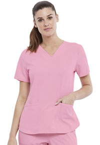Elle 2-Pocket V-Neck Top Rosewater (EL622-ROWR)