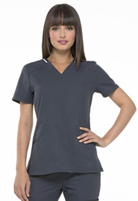 Simply Polished V-Neck Top (EL650-PWT) (EL650-PWT)