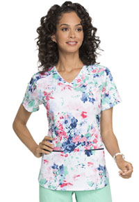 Prints a La Mode V-Neck Top (EL715-DLPT) (EL715-DLPT)