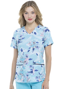 Elle V-Neck Top Wash The Blooms Away (EL715-WABY)