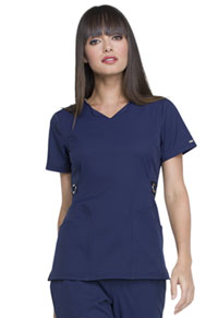Simply Polished V-Neck Top (EL720-NAV) (EL720-NAV)
