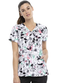 Elle V-Neck Top Sketched Floral (EL761-ELSF)