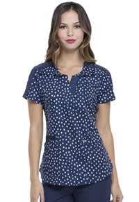 Elle Shaped V-Neck Top Dot's So Chic (EL762-DTSI)