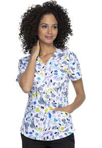 Prints a La Mode V-Neck Top (EL763-ABUH) (EL763-ABUH)