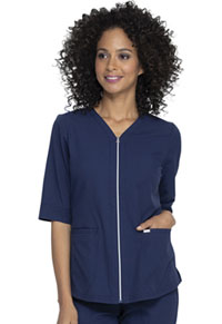 Elle Zip Up Top Navy (EL770-NAV)