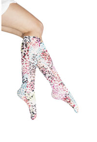 Cherokee Knee Highs 12 mmHg Compression Spotted Heart (FASHIONSUPPORT-SPHT)