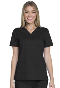 Genuine Dickies Industrial Strength V-Neck Top (GD600-BLK) (GD600-BLK)