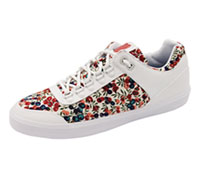 K-Swiss Footwear - Athletic White,Red,Coral,Blue (GSTAAD-WRR)
