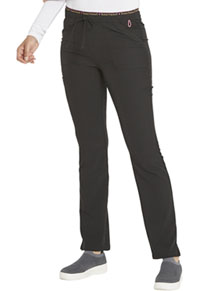 Heartsoul Mid Rise Tapered Leg Drawstring Pant Black (HS185-BCKH)