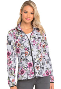 U Da Bom Zip Front Jacket Patterns And Posies (HS301-PATS)